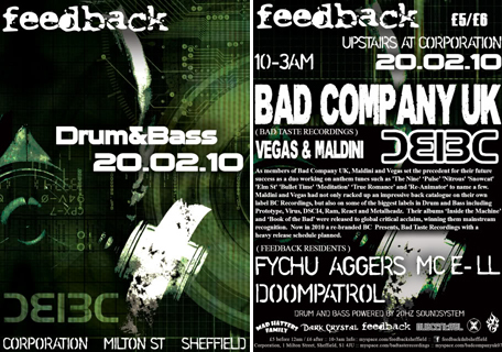 feedback drum and bass bad company uk