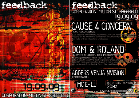 feedback drum and bass cause4concern