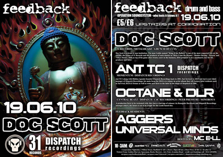 feedback drum and bass doc scott octane dlr ant tc1