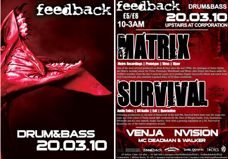 feedback drum and bass matrix survival