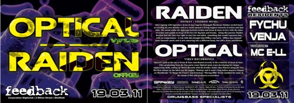feedback drum and bass raiden optical