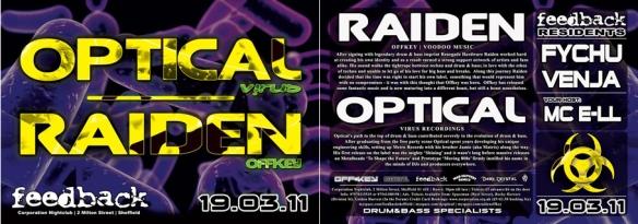 feedback drum and bass raiden optical