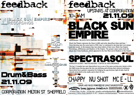 feedback drum and bass spectrasoul black sun empire